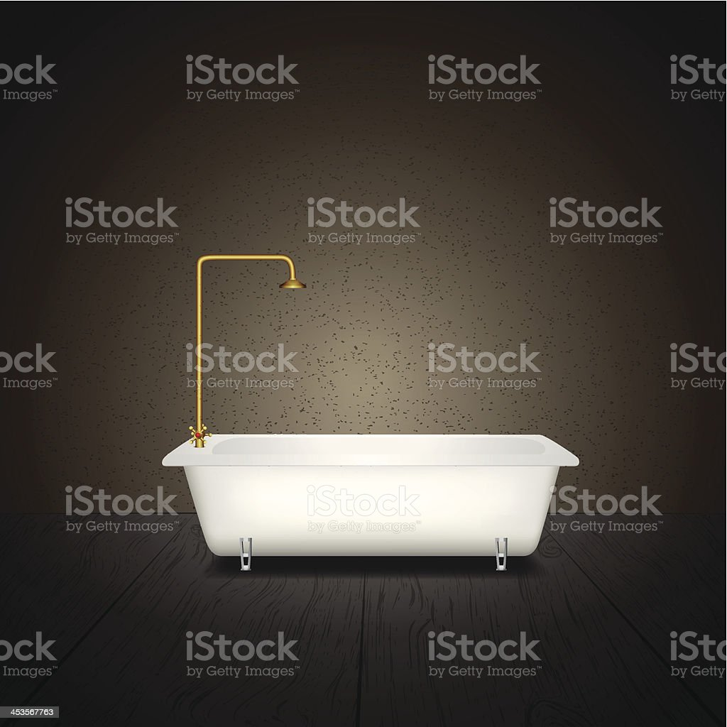 Bath on grey background royalty-free stock vector art