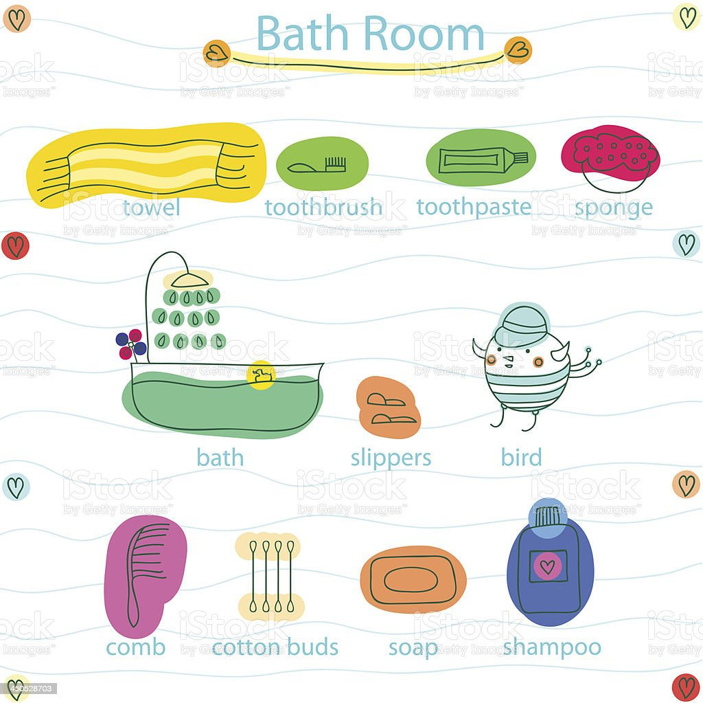 bath room royalty-free stock vector art