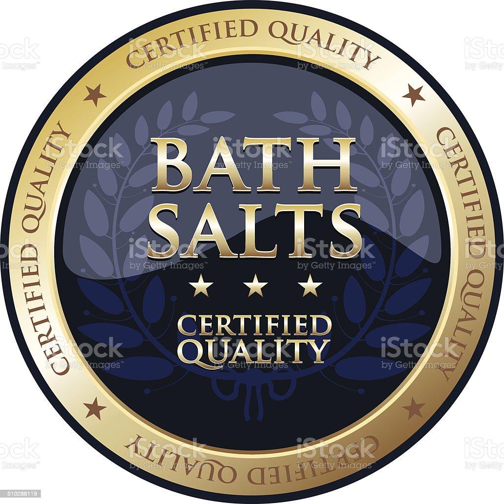 Bath Salts Gold Emblem vector art illustration