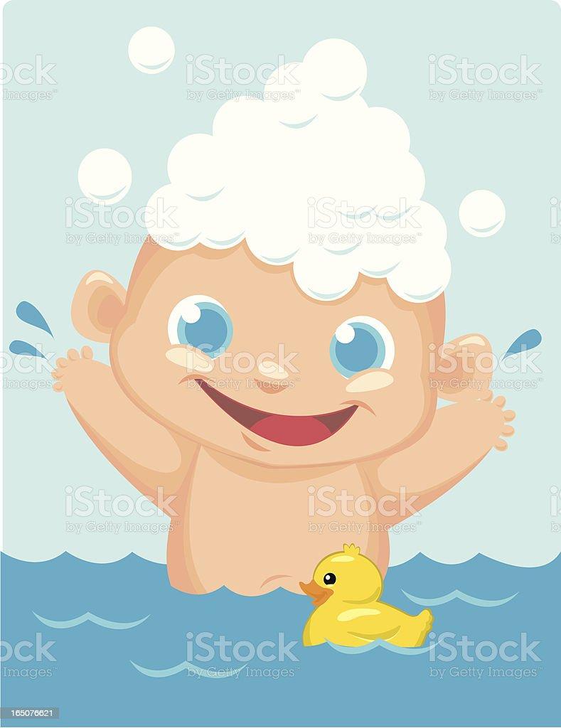 Bath time royalty-free stock vector art