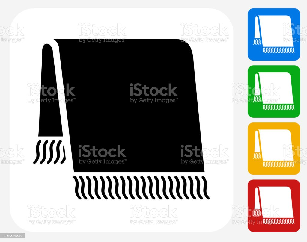 Bath Towel Icon Flat Graphic Design vector art illustration