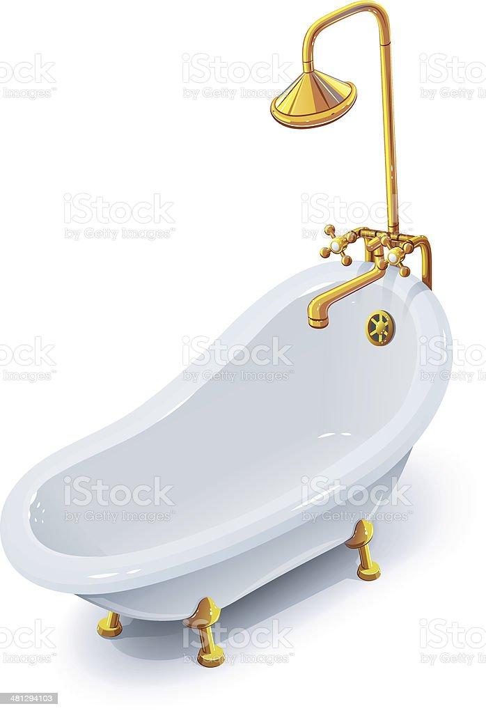 Bath royalty-free stock vector art