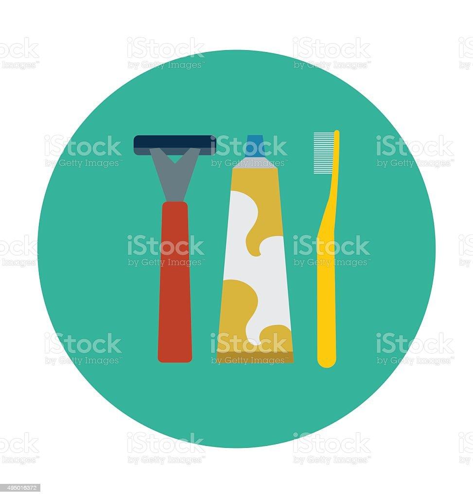 Bathroom Accessories Colored Vector Icon vector art illustration