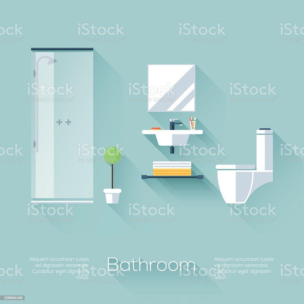 Bathroom Cover vector art illustration