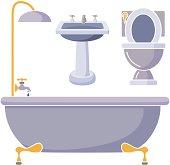 bathroom fixtures in color