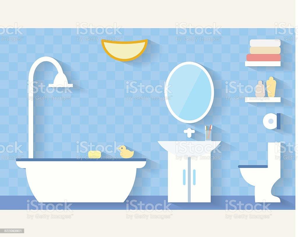 Bathroom flat illustration vector art illustration
