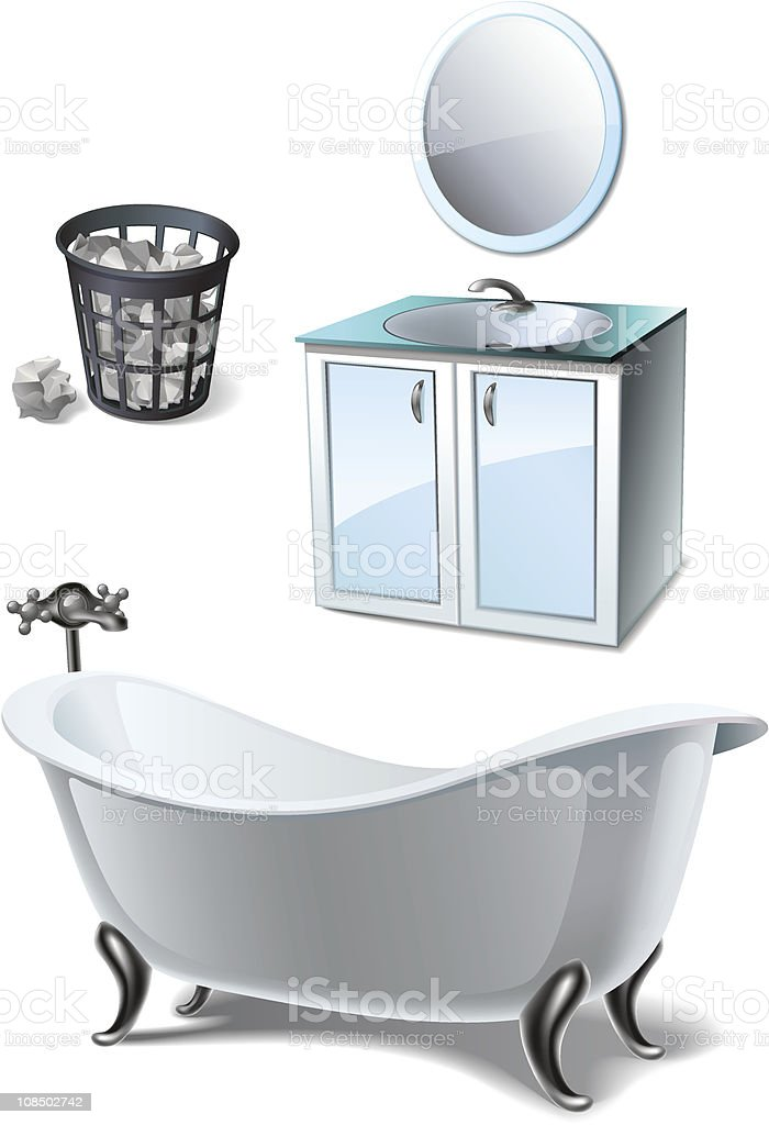 Bathroom furniture set royalty-free stock vector art