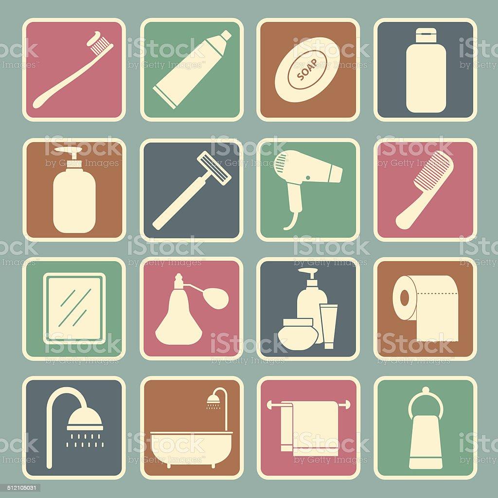 bathroom icon vector art illustration