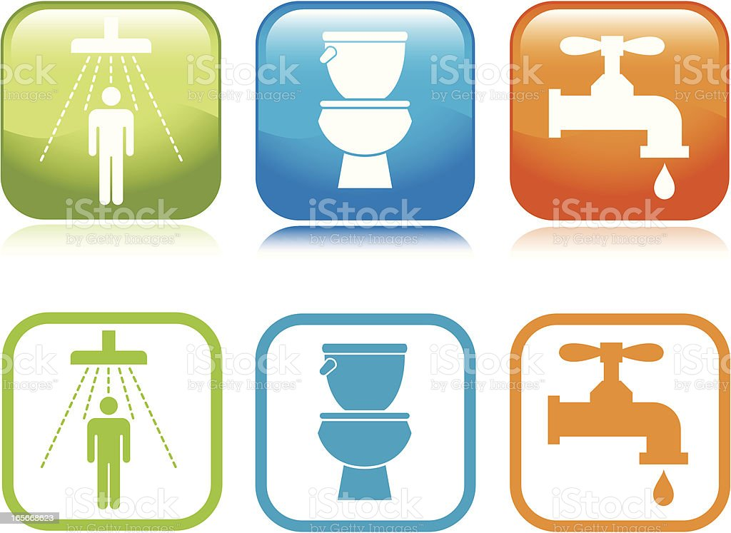 Bathroom Icons royalty-free stock vector art