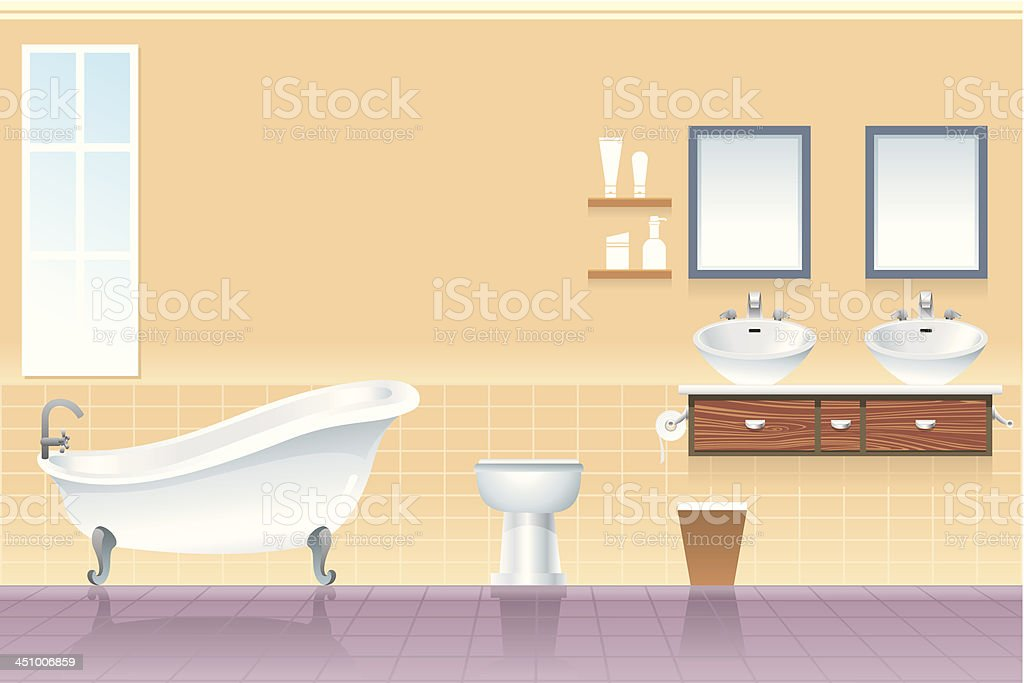 Bathroom Interior royalty-free stock vector art