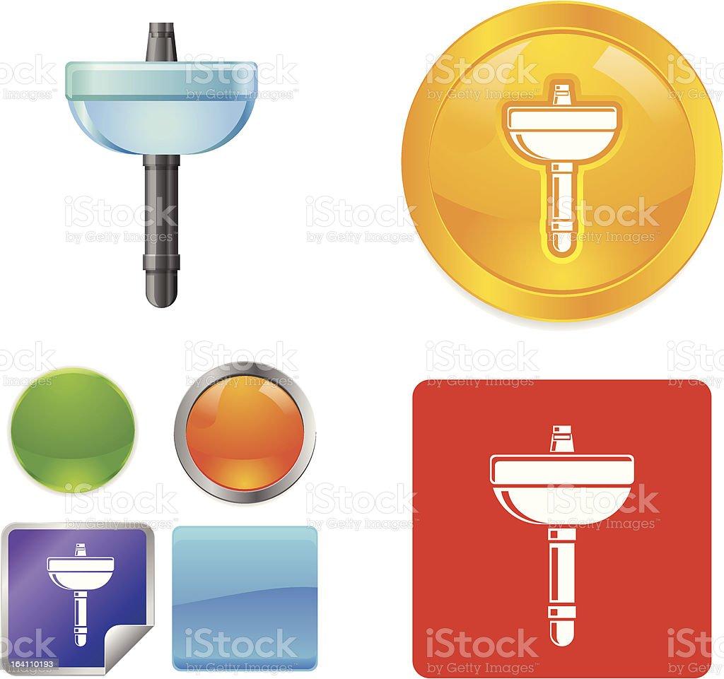 Bathroom Sink vector icons royalty-free stock vector art