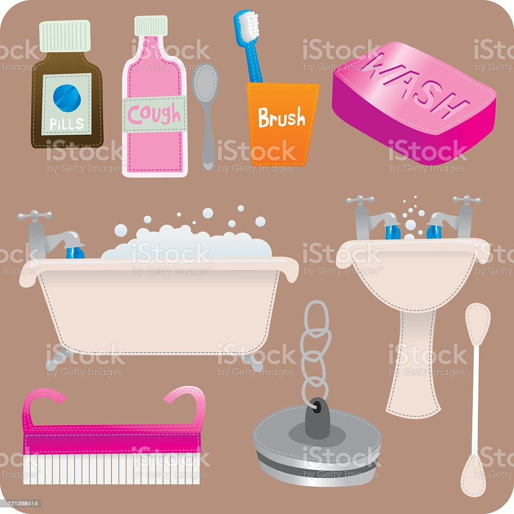 Bathroom Stuff Royalty Free Stock Vector Art