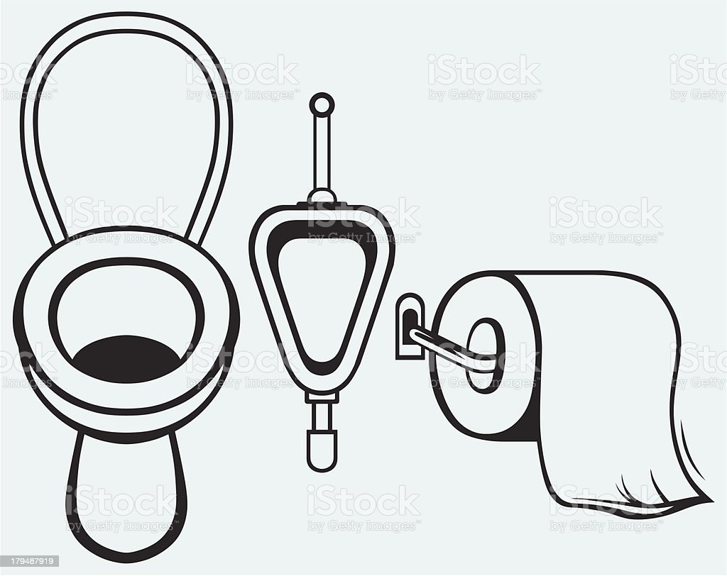 Bathroom. Toilet paper vector art illustration
