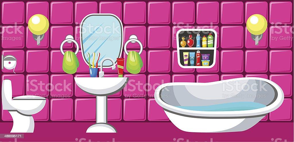Bathroom. royalty-free stock vector art
