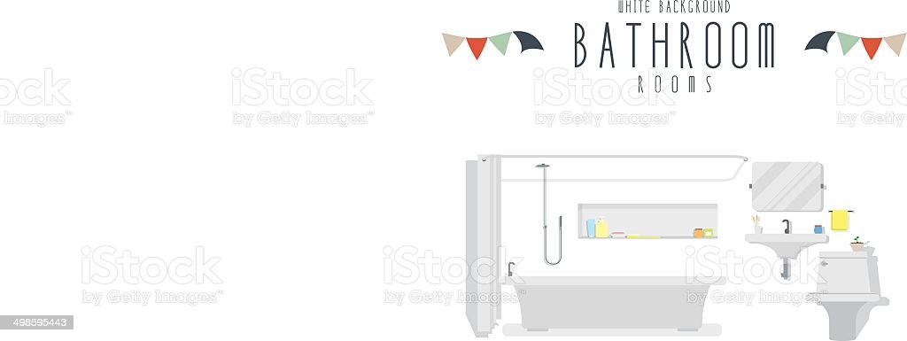 Bathroom (White Background) vector art illustration