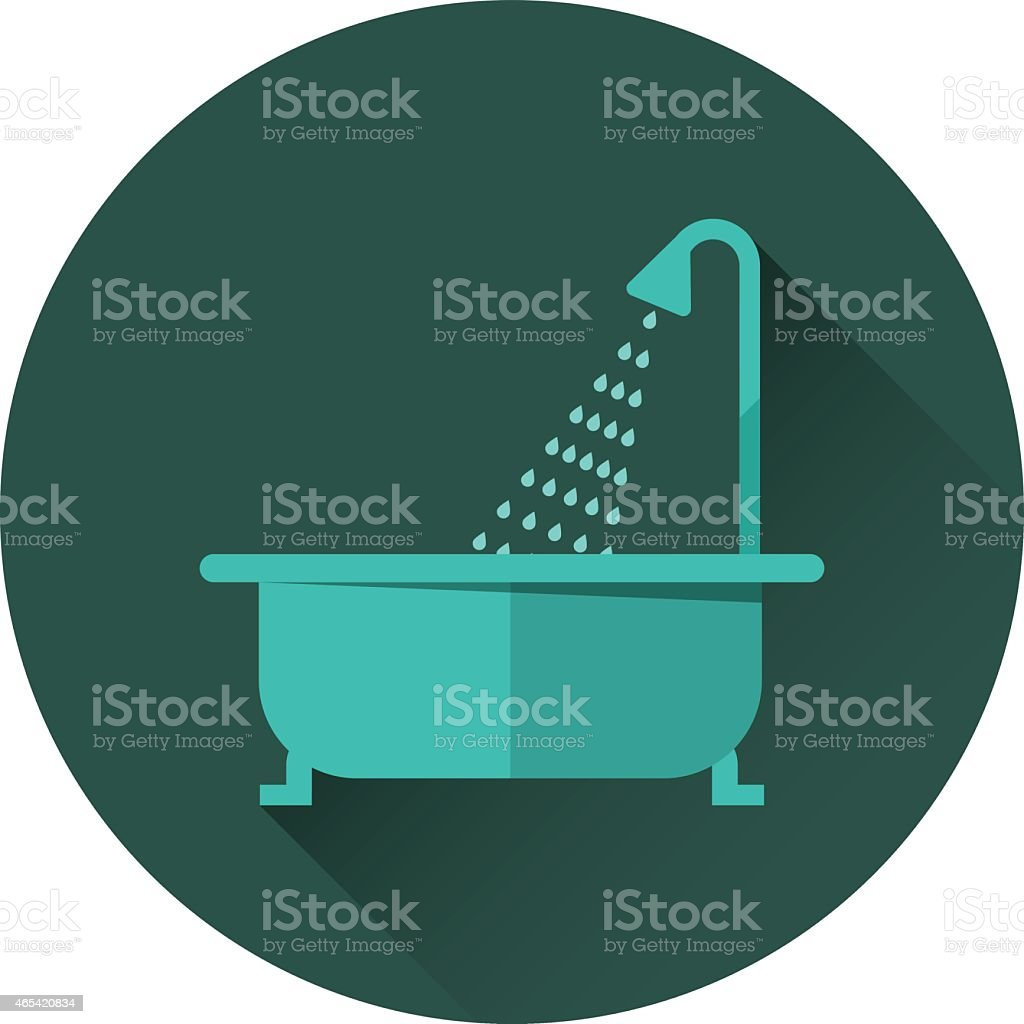 Bathtub and shower vector illustration vector art illustration