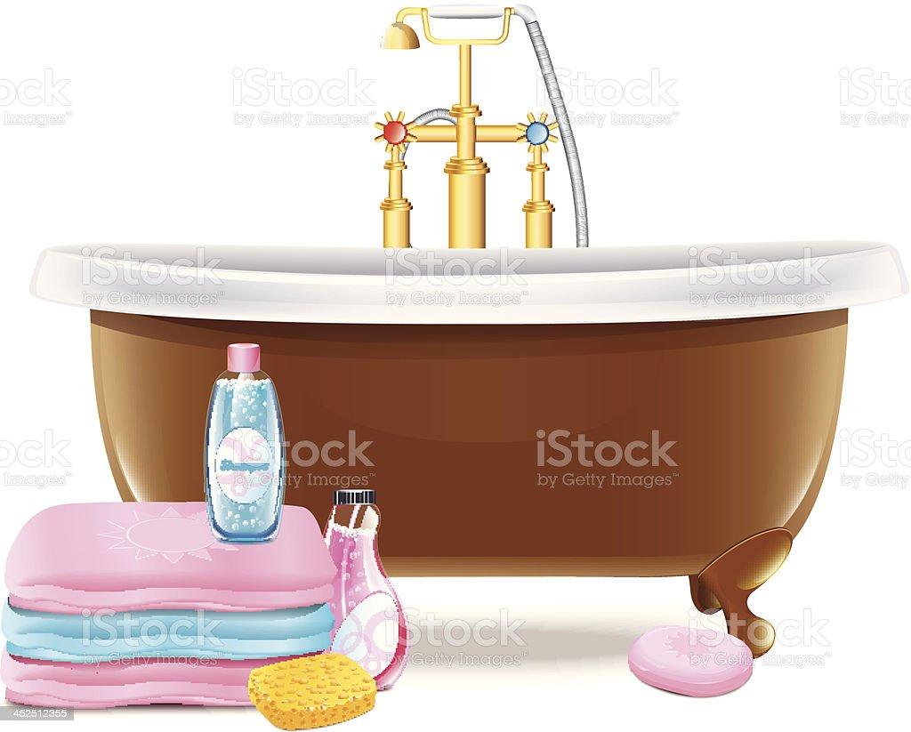 Bathtub2 royalty-free stock vector art