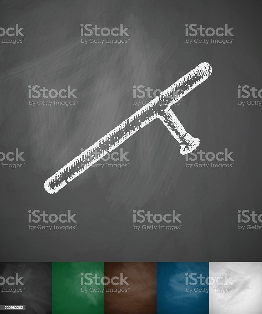 baton icon vector art illustration