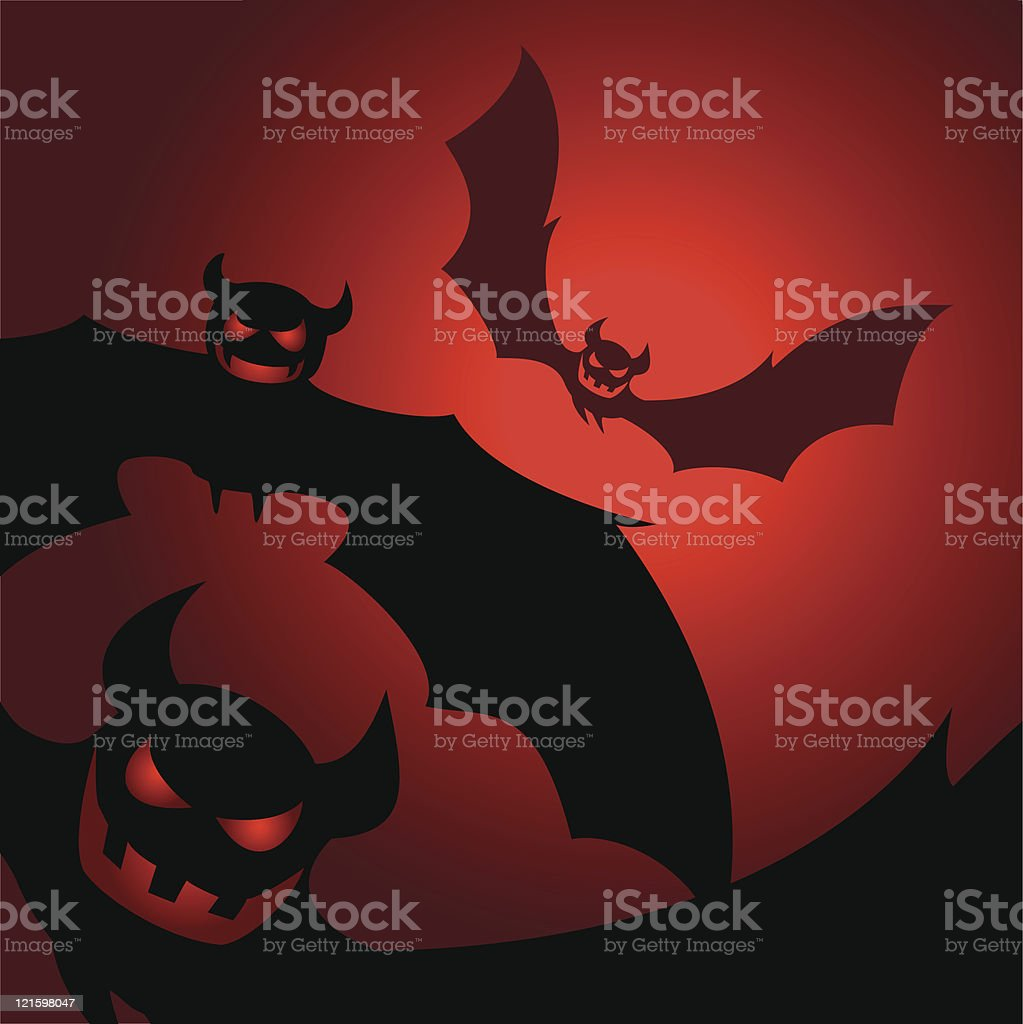 bats from hell royalty-free stock vector art