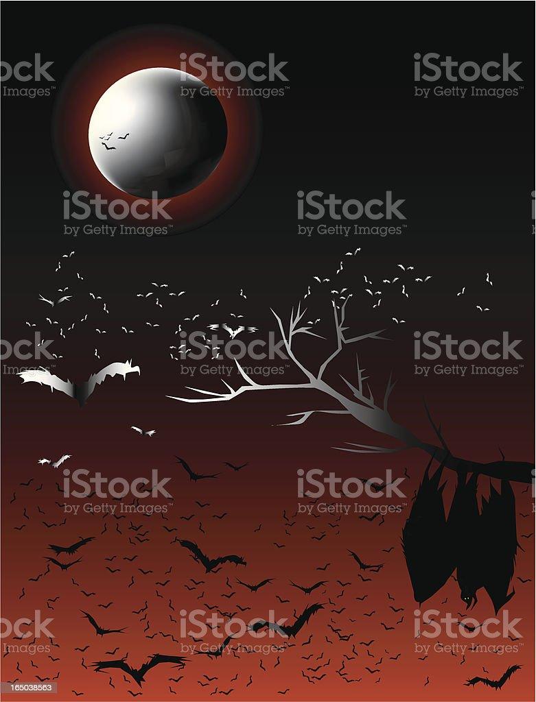 Bats' Night royalty-free stock vector art