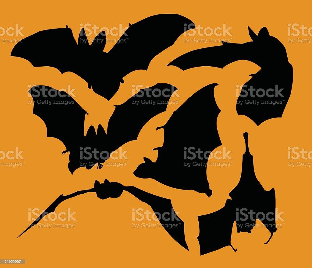 Bats vector art illustration