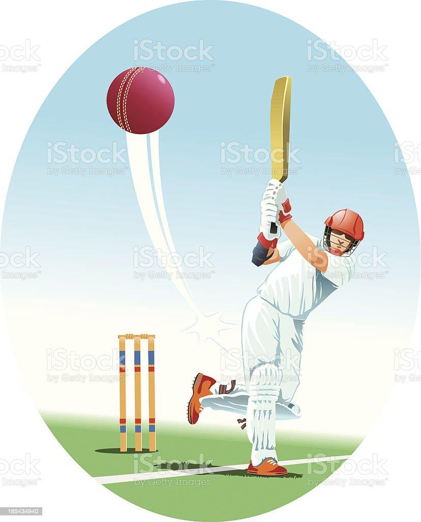 Batsman in Cricket vector art illustration