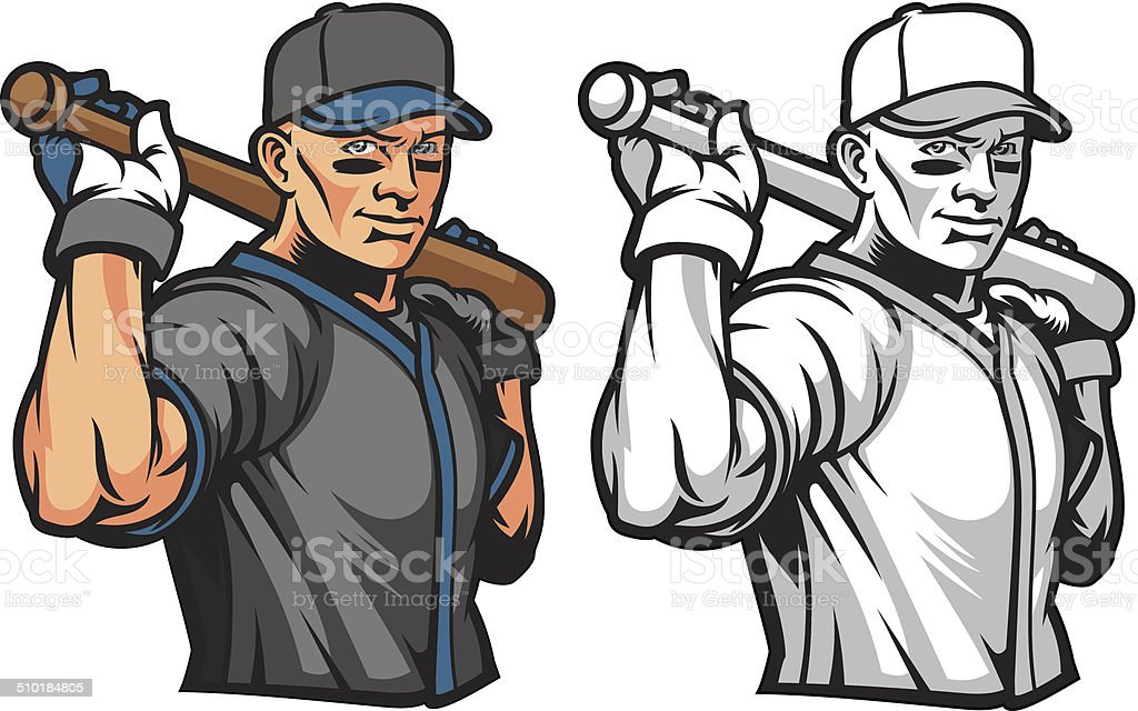 Batter UP! vector art illustration