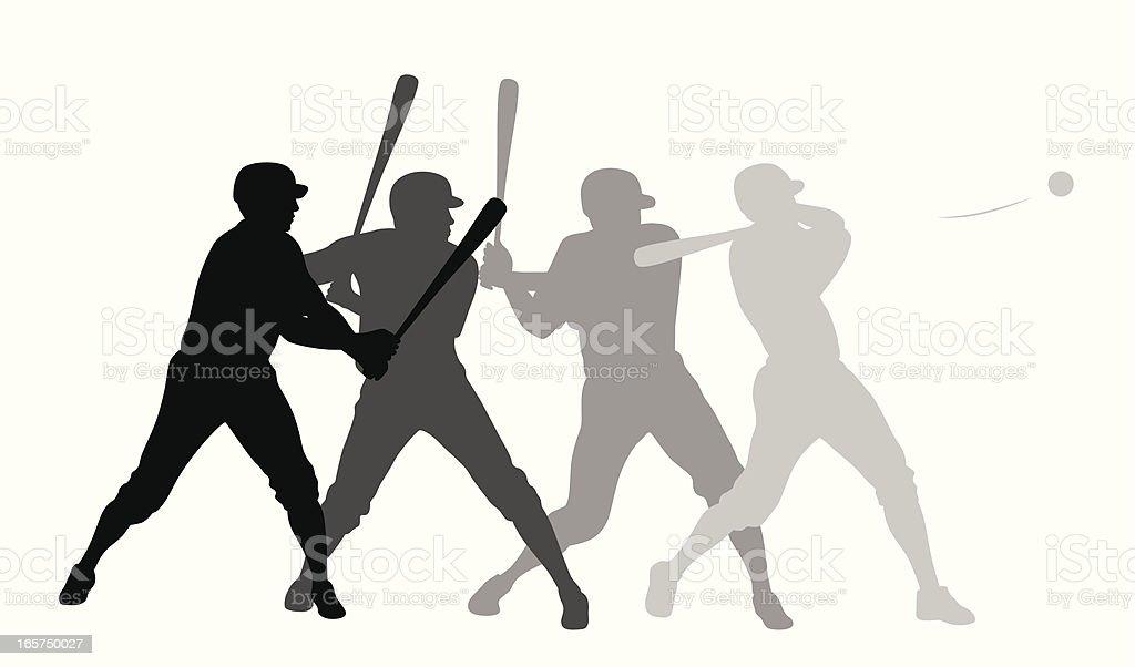 Batter Up Vector Silhouette vector art illustration