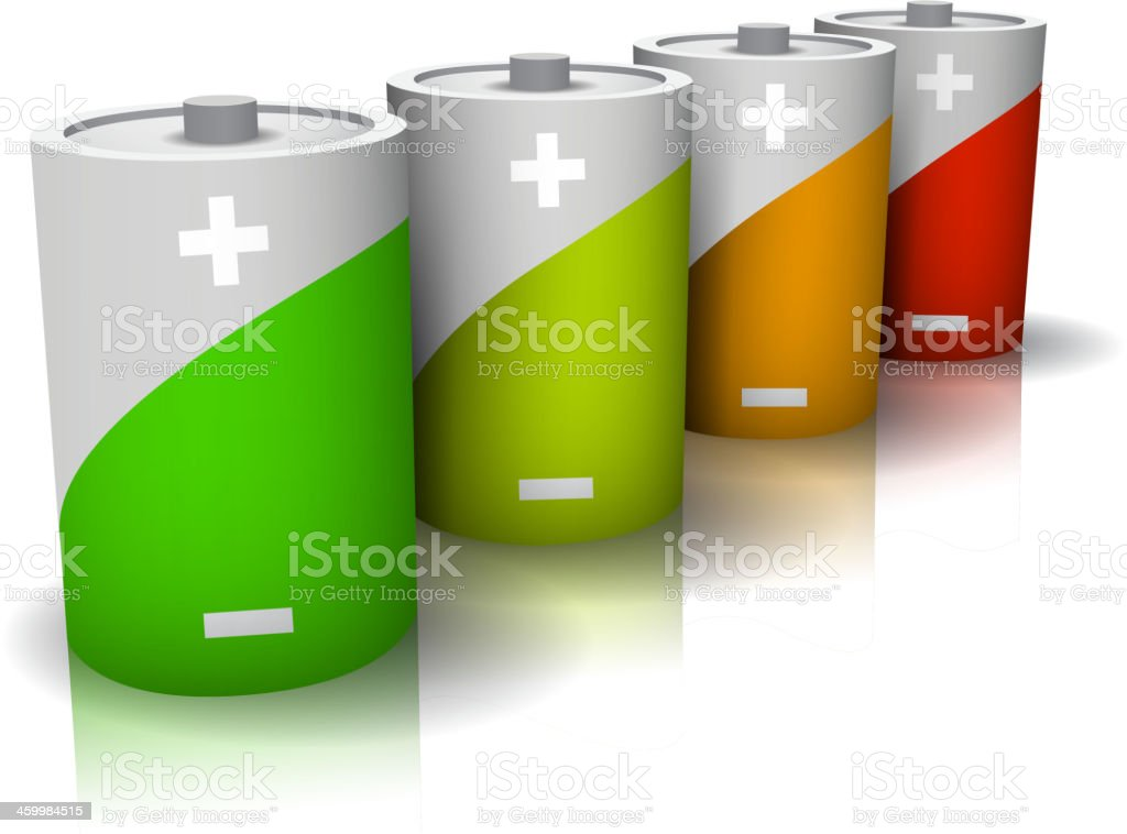 Batteries royalty-free stock vector art