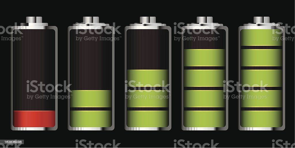 battery charge section royalty-free stock vector art