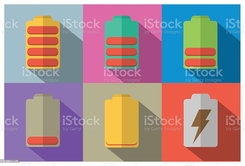 battery flat icon design vector art illustration