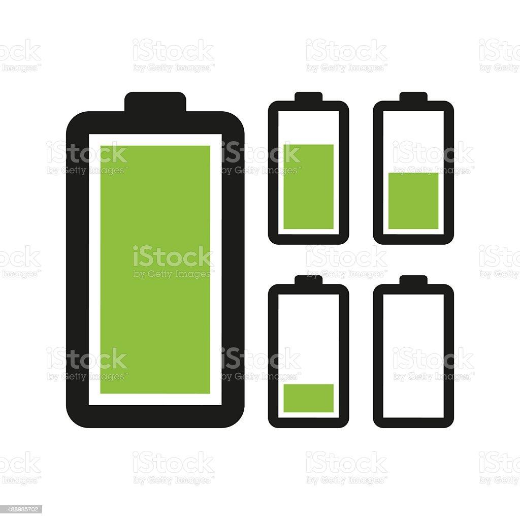 Battery icon vector art illustration
