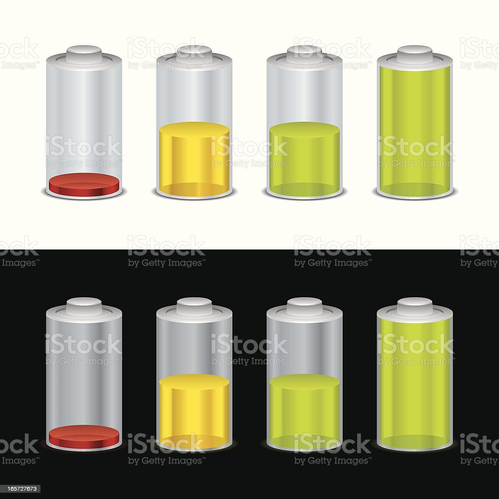 Battery in Colors and Relfections royalty-free stock vector art
