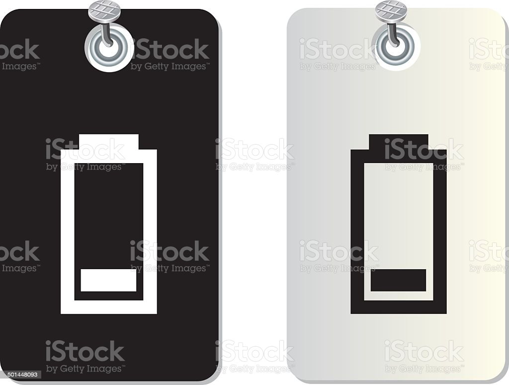 battery label tag royalty-free stock vector art