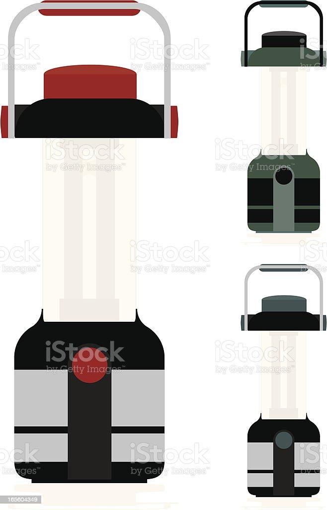 Batterie, das ausgezeichnete Laterne in verschiedenen Farben Lizenzfreies vektor illustration