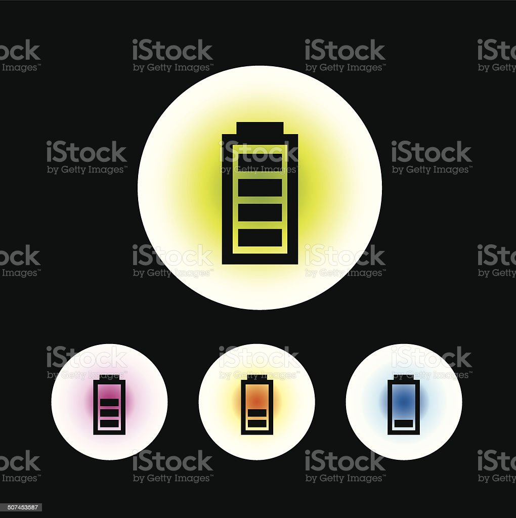 battery symbol vector art illustration