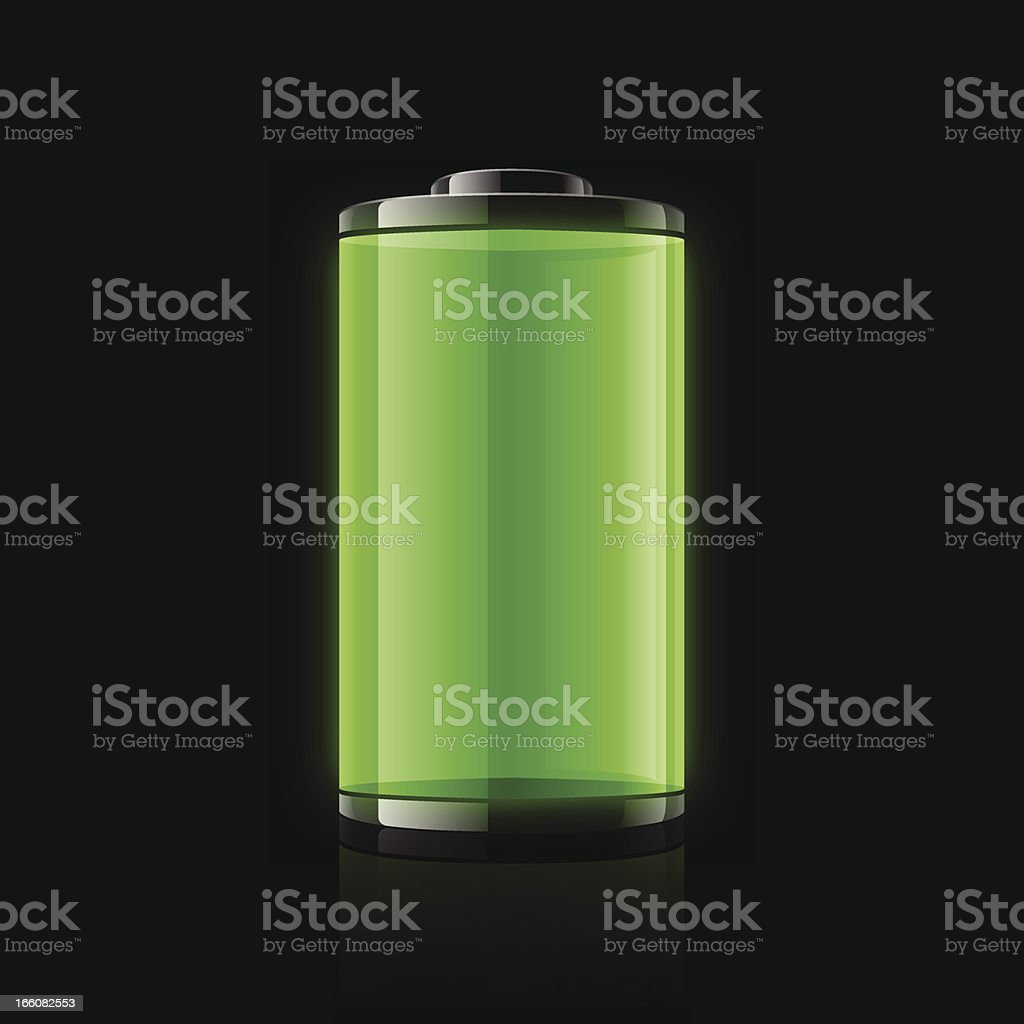 Battery vector art illustration