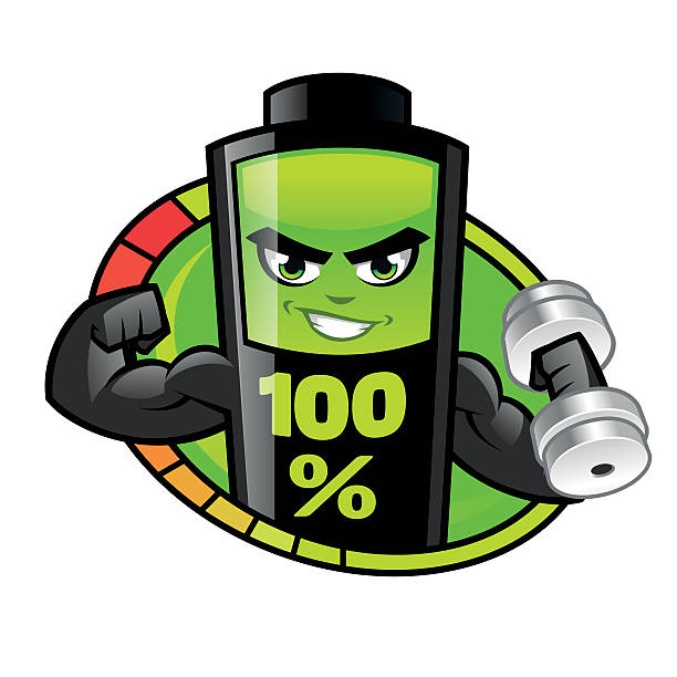 battery cartoon human muscle energy clip art, vector images, Muscles