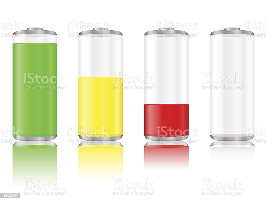 battery with reflection royalty-free stock vector art