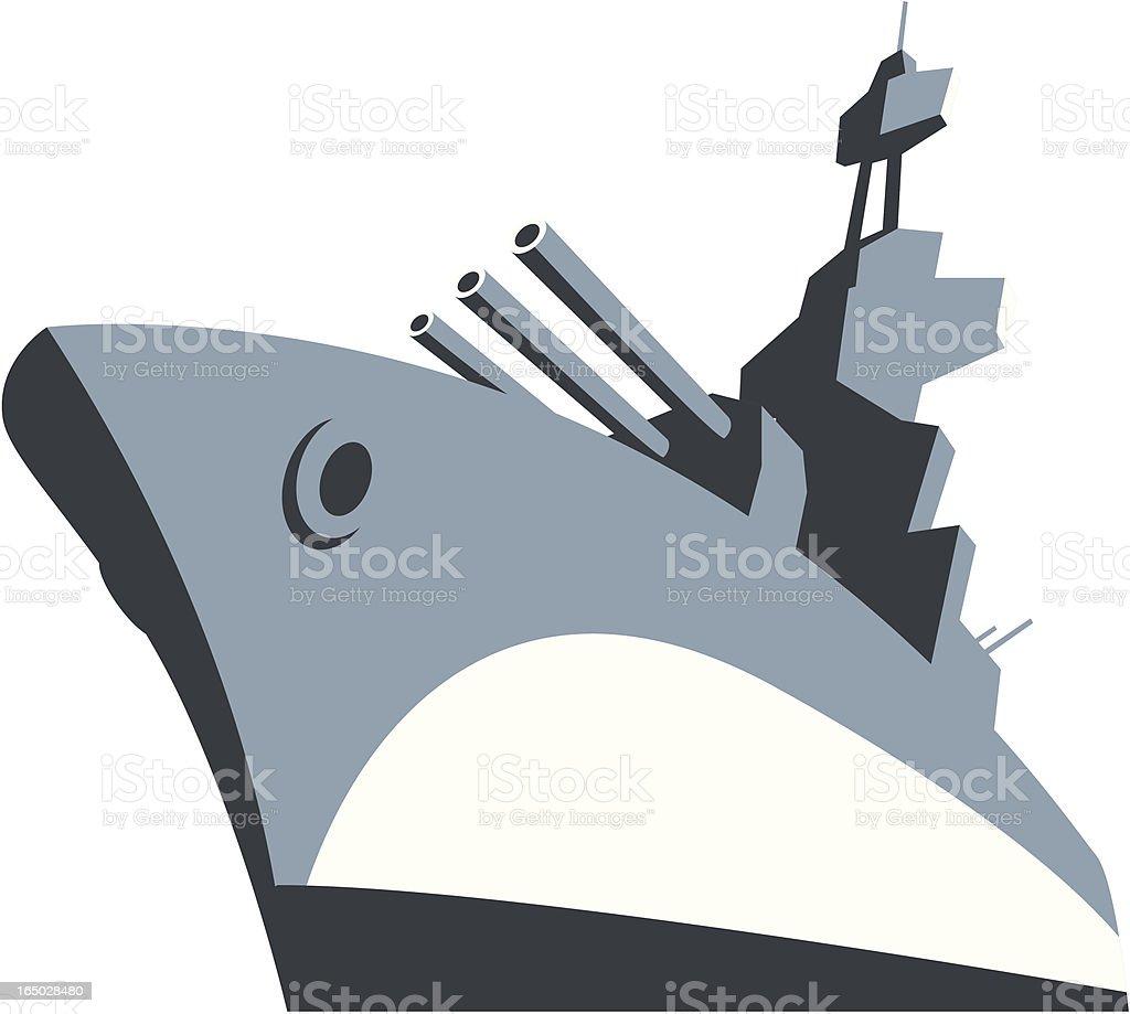 Battle Ship vector art illustration