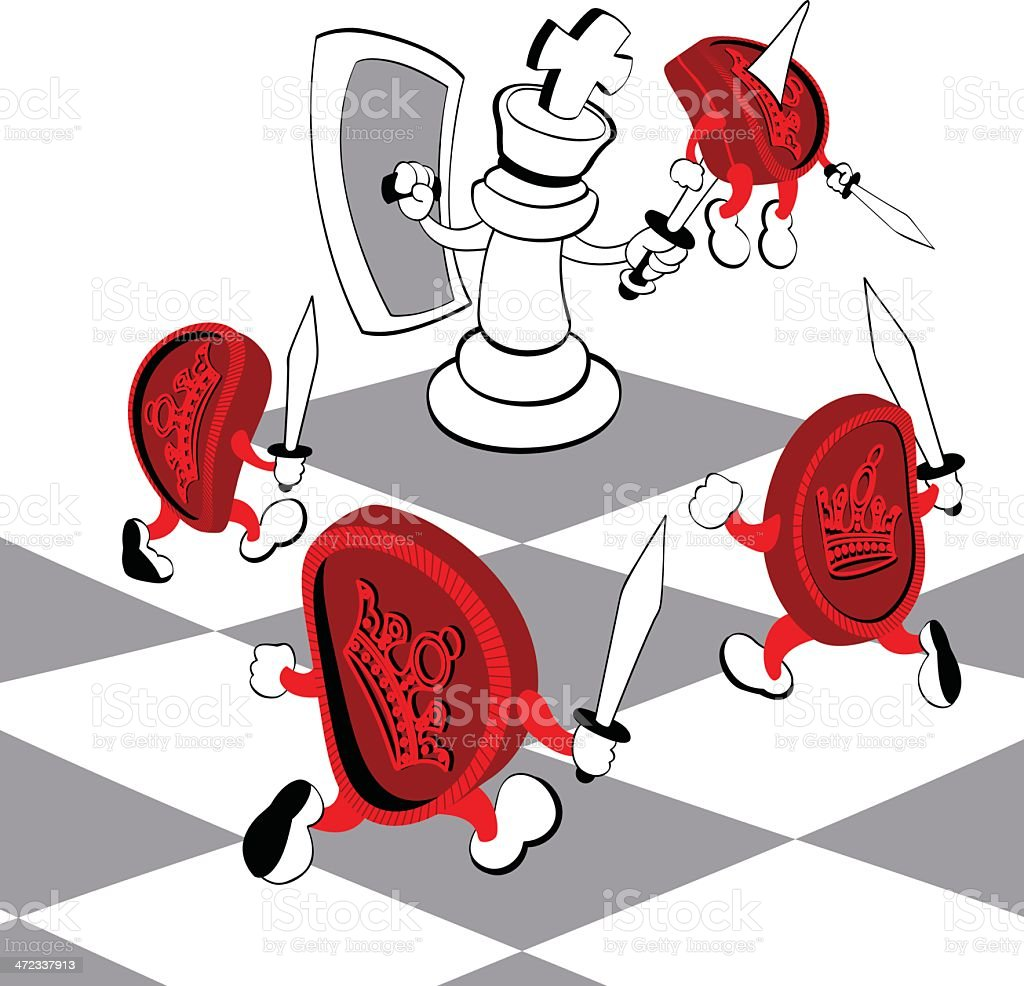 Battle vector art illustration