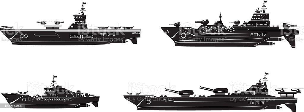 Battleships set royalty-free stock vector art