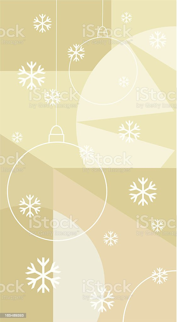 Baubles and Snowflakes royalty-free stock vector art