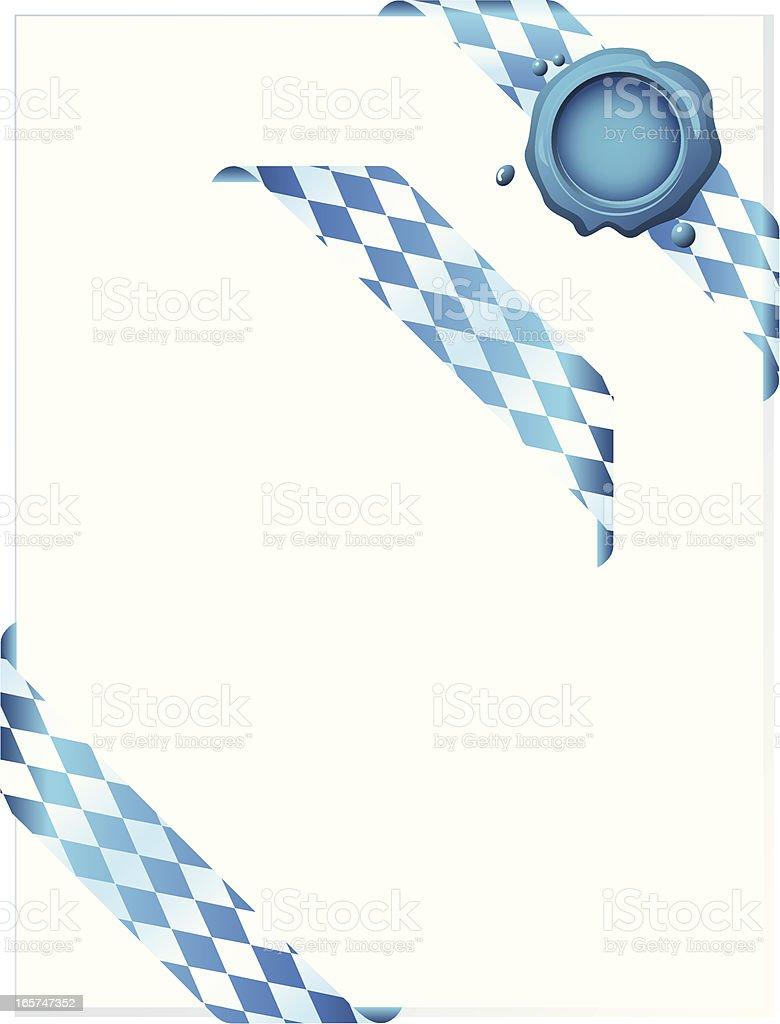 Bavarian Corner Ribbons with Wax Seal royalty-free stock vector art