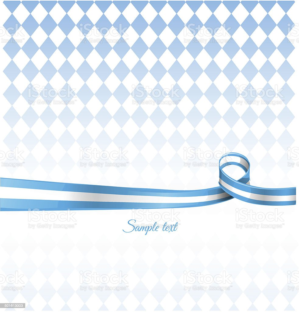 bavarian ribbon flag on background vector art illustration