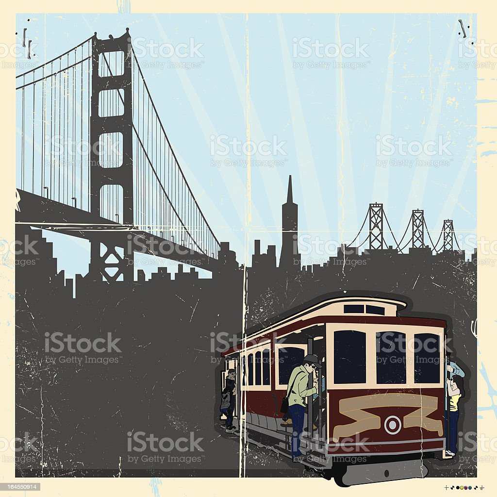 Bay back in the Day vector art illustration