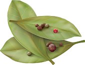 Bay leaves and pepper
