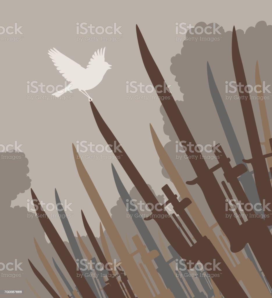 Bayonet bird vector art illustration