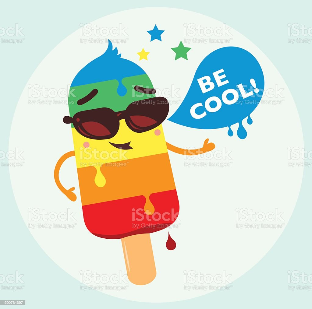 Be Cool vector art illustration