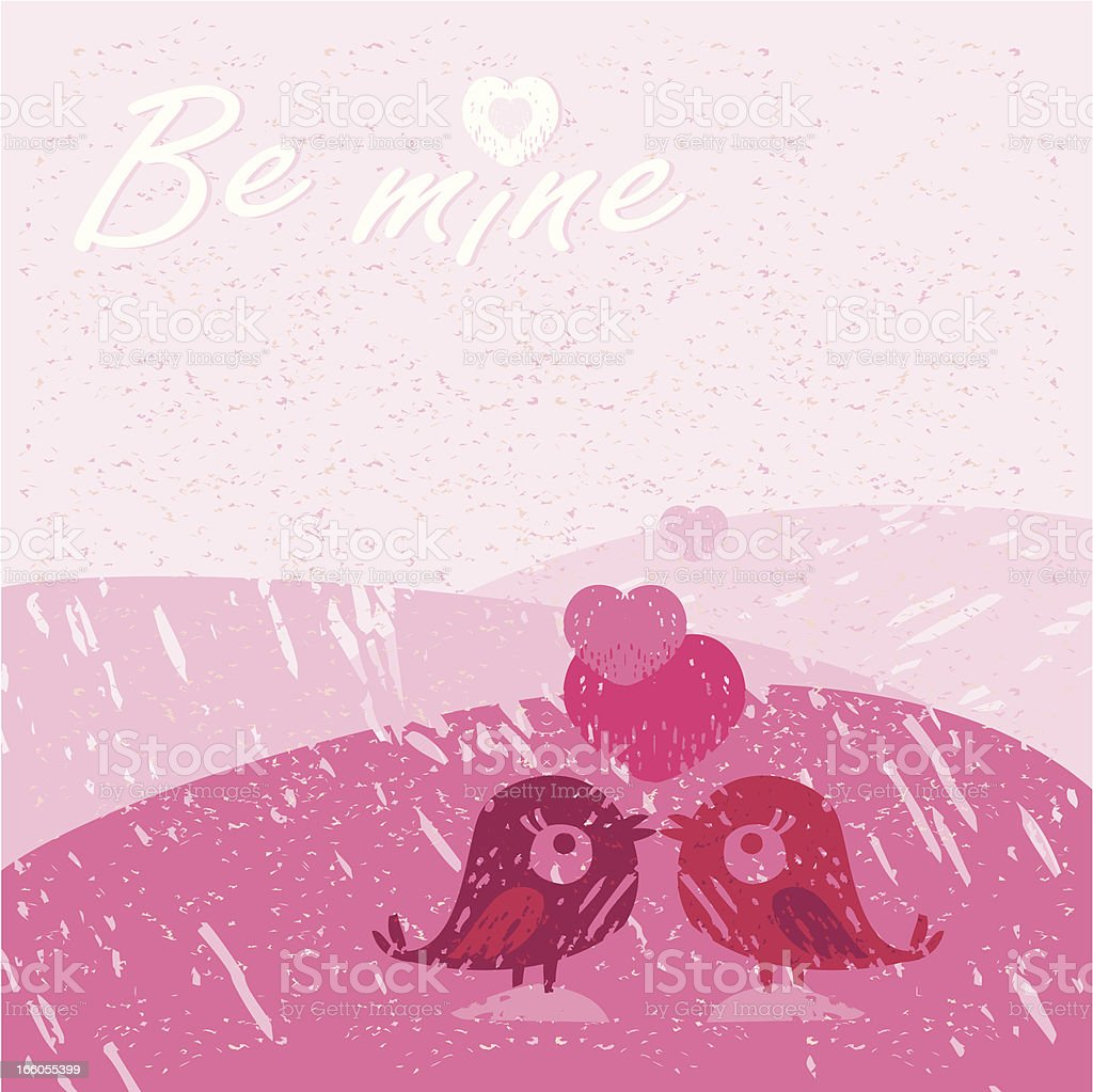 Be Mine (Valentine's Greetings Card) royalty-free stock vector art